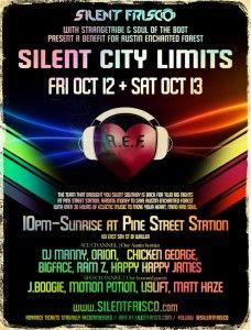 #SilentCityLimits #Austin  October 12-13