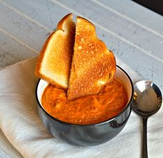 roasted sweet potato and tomato soup