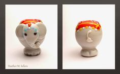 Elephant Adorned, a lampwork glass bead by Heather Sellers.  Enjoy!