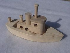 Wood Toy tug boat by WisemenTrading on Etsy