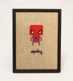 'Spidey' - Geeky fan art gone retro ♥ You can buy this piece at our webshop www.artrebelscom #artrebels #art #craft