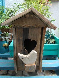 Casinha de passarinho em madeira de #pallets