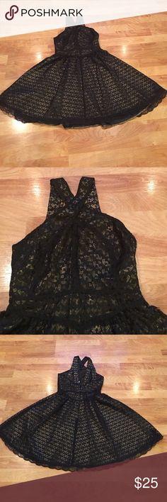 Moda International Black lace dress. Beautiful black lace dress in excellent condition. Worn once. Moda International Dresses Mini
