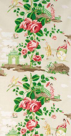 chinoiserie Scalamandre China Rose, http://www.eadeswallpaper.com
