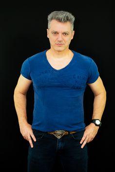 men fashion superman jeans t-shirt