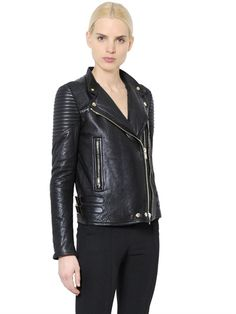 GIVENCHY - NAPPA LEATHER MOTO JACKET - LUISAVIAROMA - LUXURY SHOPPING WORLDWIDE SHIPPING - FLORENCE