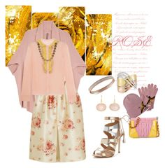 """""""Rose Quartz & Yellow"""" by freida-adams ❤ liked on Polyvore featuring Design Art, Melissa McCarthy Seven7, Dsquared2, Miu Miu, Vilshenko, Effy Jewelry, Judy Geib, RED Valentino, Miss KG and plus size clothing"""