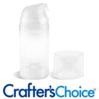 3.5 oz Natural Airless Pump, Bottle & Top Set - Wholesale Supplies Plus