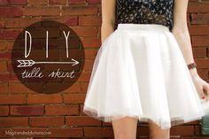 style everyday | tulle skirt tutorial
