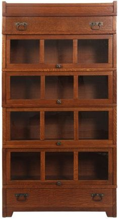 Mission Oak Stacking Sectional Bookcase : Lot 0261
