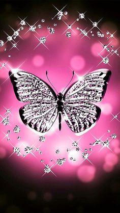 Pink butterfly wallpaper by - - Free on ZEDGE™ Butterfly Wallpaper Iphone, Bling Wallpaper, Diamond Wallpaper, Heart Wallpaper, Cute Wallpaper Backgrounds, Love Wallpaper, Cellphone Wallpaper, Colorful Wallpaper, Galaxy Wallpaper