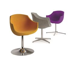Chair Colimbas 1610 PO, by Cizeta. Available in several bases and in any colour.