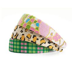 Needlepoint Headband from smathersandbranson.com; $49 each
