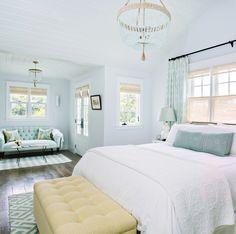 serene aqua blue bed