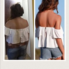 Sexy off shoulder Fashion women sexy off shoulder short sleeve Cotton length 26cm Tops