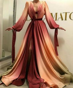 A-Line Strapless Slit Long Prom Dresses with Pockets, Simple Formal Party Dresses - Fashion Ball Dresses, Ball Gowns, Evening Dresses, Prom Dresses, Formal Dresses, Halter Dresses, Elegant Dresses, Pretty Dresses, Ombre Gown