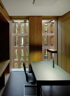 Image 16 of 17 from gallery of Jacob and Wilhelm Grimm Centre / Max Dudler. Photograph by Stefan Müller Details Magazine, Natural Flooring, Basement Remodeling, Architecture Details, Room Interior, Gallery, Furniture, Rationalism, Libraries
