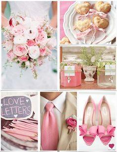 Romantic pink wedding ideas | Heart Love Weddings