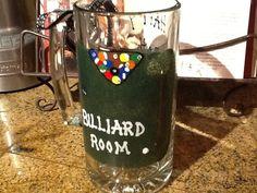 Billiard Room pool table beer mug Happy 30th by MLStemwareworks4u, $15.00