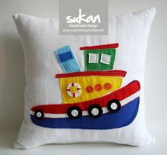 Sukan / Tugboats  14x14 by sukanart on Etsy, $55.00