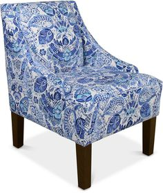 Glendale Swoop Arm Chair, Quick Ship