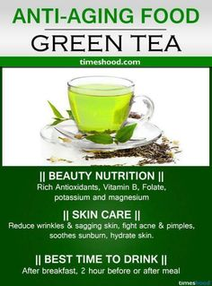 Drink Green tea for anti-aging. Best anti-aging foods for younger looking skin and glowing face. Reduce under eye wrinkles. Drink Green tea for anti-aging. Best anti-aging foods for younger looking skin and glowing face. Reduce under eye wrinkles. Best Anti Aging Creams, Anti Aging Tips, Food For Glowing Skin, Glowing Face, Health And Nutrition, Health And Wellness, Nutrition Tips, Under Eye Wrinkles, Home Remedies