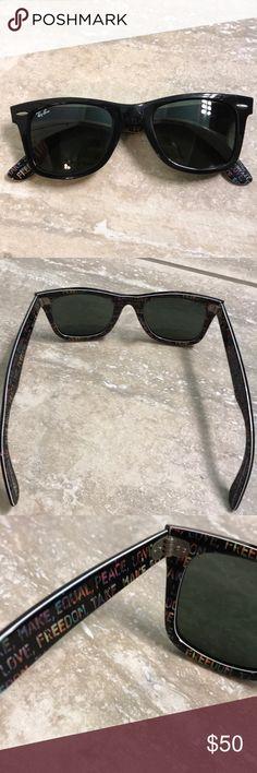 Ray-ban wayfarer sunglasses -good condition  -no box -special series #5 Ray-Ban Accessories Sunglasses