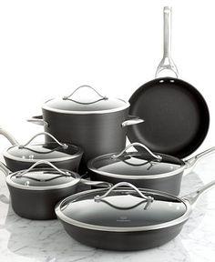 Calphalon Contemporary Nonstick 11 Piece Cookware Set - Cookware Sets - Kitchen - Macy's