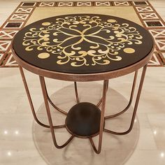 Hotel Lobby table designed by Eleftherios Ambatzis in copper, granite and onyx / Rodos Park Hotel, Rhodes Park Hotel, Hotel Lobby, Rhodes, Granite, Objects, Copper, Instagram Posts, Table, Furniture