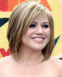 hair color for round face - Google Search