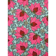 """Lotus Flower Wrapping Paper    Roll (2 sheets) - 27"""" x 39"""", 50# text weight  Roll Wrap $7.95"""