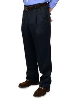 BERLE Navy Wool Waistband Trousers