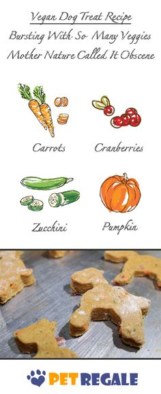 Vegan Dog Treat Recipe - Bursting with so many veggies mother nature called it obscene