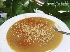 Greek Sweets, Greek Recipes, Biscotti, Cantaloupe, Deserts, Pudding, Cream, Fruit, Food