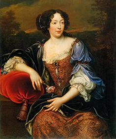 """""""ab. 1675 Henri Gascar after Pierre Mignard - Portrait of Élisabeth Marguerite d'Orléans (Isabelle d'Orléans) """""""