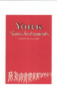 Vintage York Band Instruments Catalog Number 42 With Prices And Order Form Not PDF Very Cool Item Available @