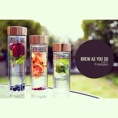 Enjoy Hot Tea and Fruit Water with the Fressko bottle range. Is this not the coolest?!?