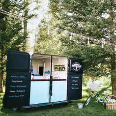 Instead of a cake, why not opt for an ice cream truck from a local shop? It'll sure to  be a crowd pleaser! This one fits in perfectly with the rustic vibe.