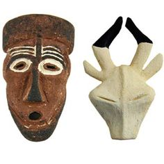 Photo of Balsa-Foam African masks