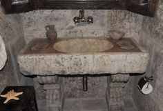 #Bathroom #sinks #inlayed  By Ancient Surfaces  For more information  Call us at: 212-461-0245 // 212-913-9588 Sales@AncientSurfaces