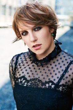 #short #hairstyles #Lena Dunham short hairstyle