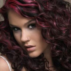 50 Black Cherry Hair Color Ideas for the Sweet & Sour Dark Red Purple Hair, Black Cherry Hair Color, Cherry Hair Colors, Magenta Hair, Joss Stone, Red Hair Streaks, Curly Hair Styles, Natural Hair Styles, World Hair