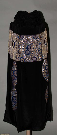 Augusta Auctions, March 30, 2011 - St. Pauls, Lot 361: Jeweled Silk  Lame Opera Cape, 1915-1920