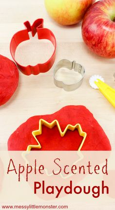 , Apple scented playdough recipe - Perfect for Autumn! , A homemade apple scented playdough recipe - Perfect for Autumn or an apple themed project! If you are looking for Autumn activities for toddlers and p. Fall Activities For Toddlers, Fall Crafts For Kids, Fall Art For Toddlers, Parenting Toddlers, Autumn Crafts Preschool, Preschool Fall Theme, Preschool Halloween Activities, Apple Activities Kindergarten, Preschool Art