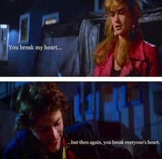 I want to cry so bad at this part! I think because of this part it makes me love at the end when Billy has to be the one to get Jules out of the house! It makes sense! Well to me it does! If you haven't watched St Elmo's Fire... We can't be friends! Sorry! Haha