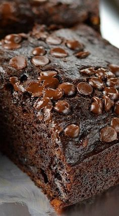 Double Chocolate Banana Cake ~ made healthier with no oil or butter but you would never know it!