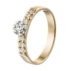 Kalevala Koru / Kalevala Jewelry / Liekki-sormus 0,18 ct, 6 x 0,025 ct / 18K keltakulta tai valkokulta / #sormuskertootarinaa