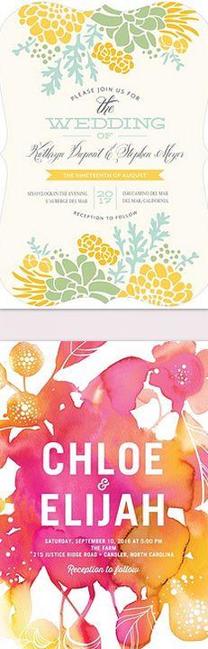 Colorful invites