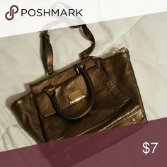 Handbag Small bronze handbag with shoulder strap Merona Bags Shoulder Bags