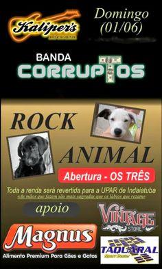 SOCIAIS CULTURAIS E ETC.  BOANERGES GONÇALVES: Rock Animal no Kalkiper's